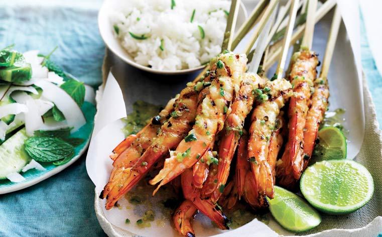 Australian prawn recipes ricciardi seafoods coldstores premium lime and lemongrass bbq skewered australian prawns forumfinder Gallery